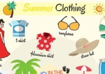 Summer Clothes Vocabulary in English 4