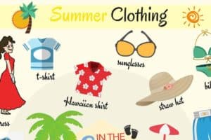 Summer Clothes Vocabulary in English 5