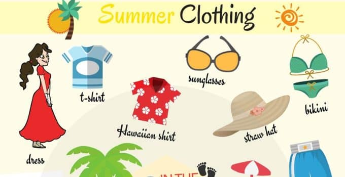 Summer Clothes Vocabulary in English 1