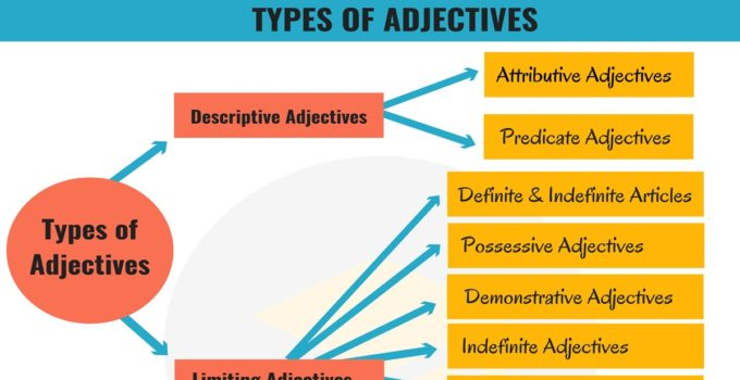 Types of Adjectives in English Grammar 1