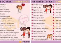 Beautiful Ways to Say I MISS YOU in English 1