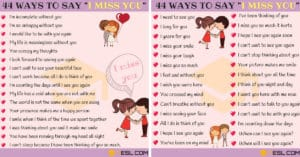 Beautiful Ways to Say I MISS YOU in English