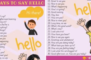 Different Ways to Say HELLO in English 1
