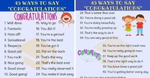 Delightful Ways to say CONGRATULATIONS in English