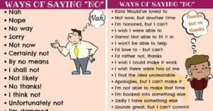 50 Ways of Saying NO to People