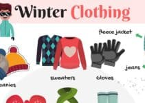 Winter Clothing Vocabulary in English 6