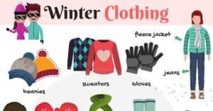 Winter Clothing Vocabulary in English