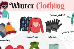 Winter Clothing Vocabulary in English 4