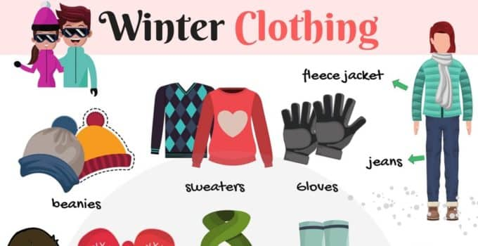 Winter Clothing Vocabulary in English 1