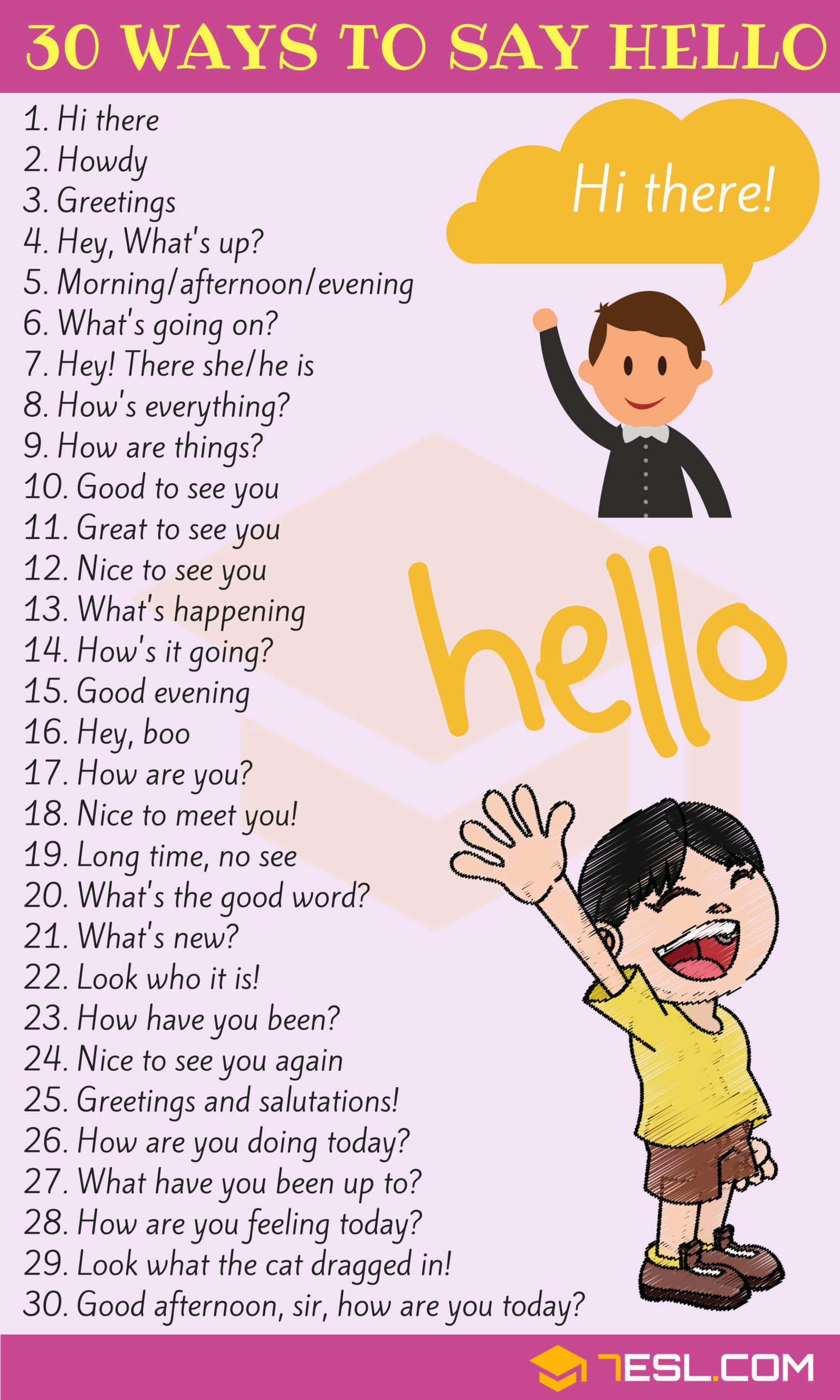 Ways to Say HELLO
