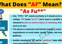 AF Meaning: What Does AF Mean? 5