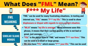 FML Meaning: What Does FML Mean? Interesting Text Conversations