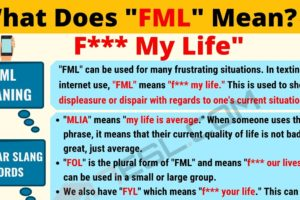 FML Meaning: What Does FML Mean? Interesting Text Conversations 10