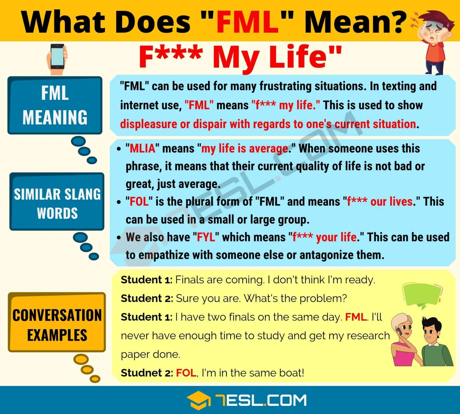 FML Meaning: What Does FML Mean? Interesting Text