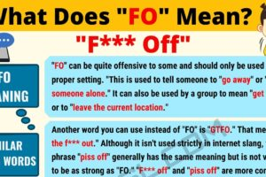 FO Meaning: What Does FO Mean? Interesting Text Conversations 4