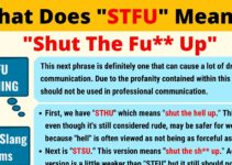 STFU Meaning: What Does STFU Mean? 4