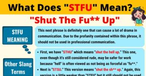 STFU Meaning: What Does STFU Mean?