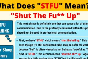 STFU Meaning: What Does STFU Mean? 13