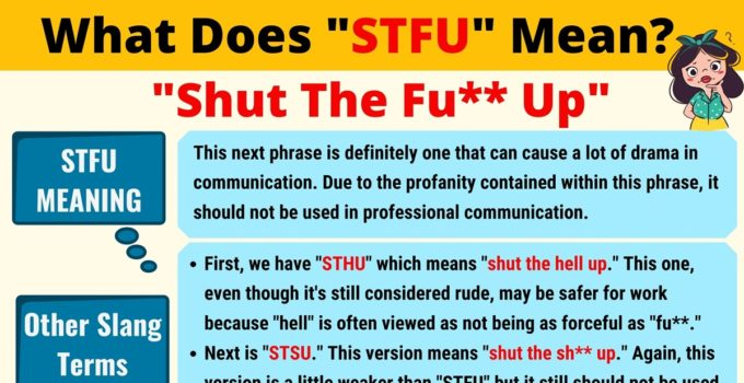STFU Meaning: What Does STFU Mean? 1