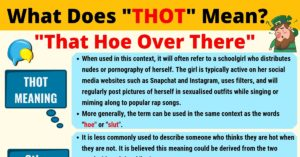 THOT Meaning: What Does THOT Mean?