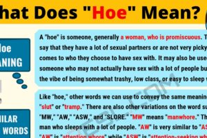 HOE Meaning: What Does HOE Mean? 3