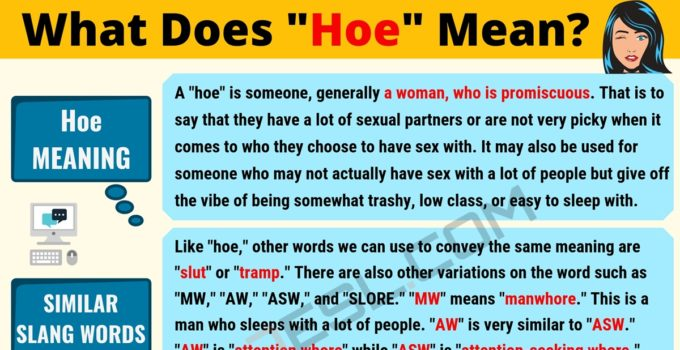 HOE Meaning: What Does HOE Mean? 1