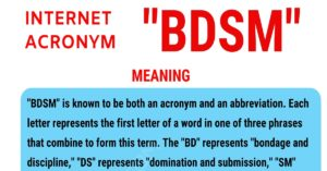 "BDSM Meaning: What Does the Popular Term ""BDSM"" Stand for?"