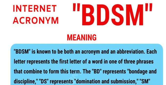 """BDSM Meaning: What Does the Popular Term """"BDSM"""" Stand for? 1"""