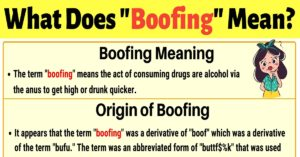 "Boofing Meaning: How to Use the Slang Term ""Boofing""?"
