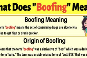 """Boofing Meaning: How to Use the Slang Term """"Boofing""""? 1"""