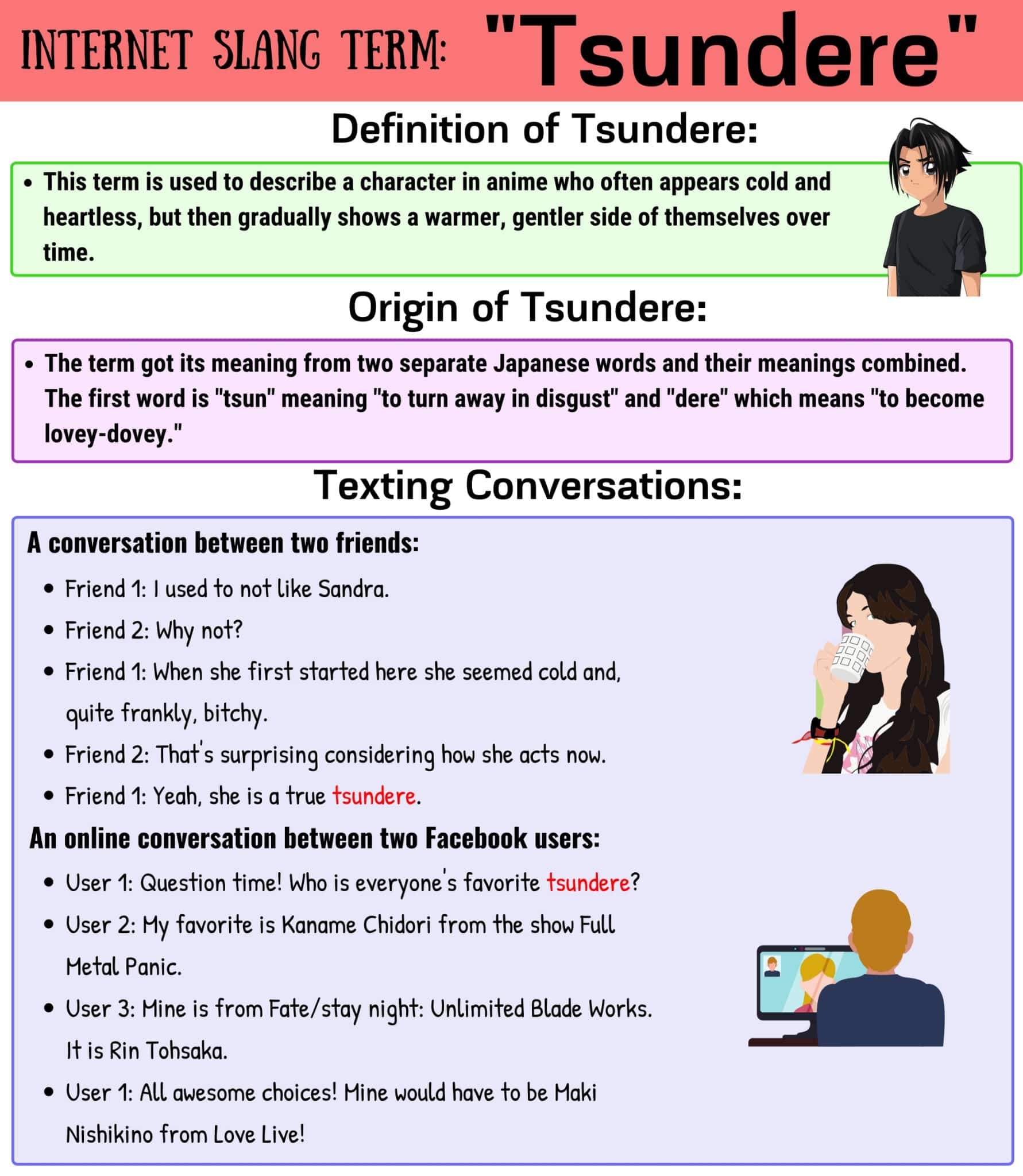 """Tsundere Meaning: Definition and Examples of the Cool Slang Word """"Tsundere"""""""