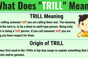Trill Meaning: What Does Trill Mean? with Useful Examples 5