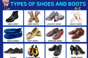 Types of Shoes and Boots - Vocabulary Word List 30