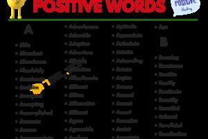 Positive Words Vocabulary List 23