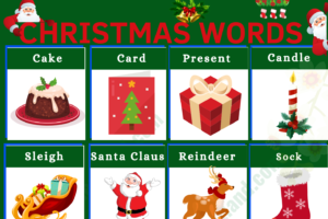 Christmas Vocabulary Word List: Useful Christmas Terms with Examples and Pictures 45