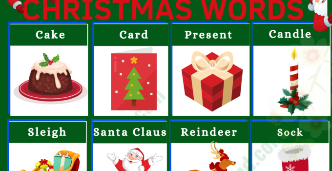 Christmas Vocabulary Word List: Useful Christmas Terms with Examples and Pictures 1