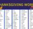 Thanksgiving Vocabulary Word List 35