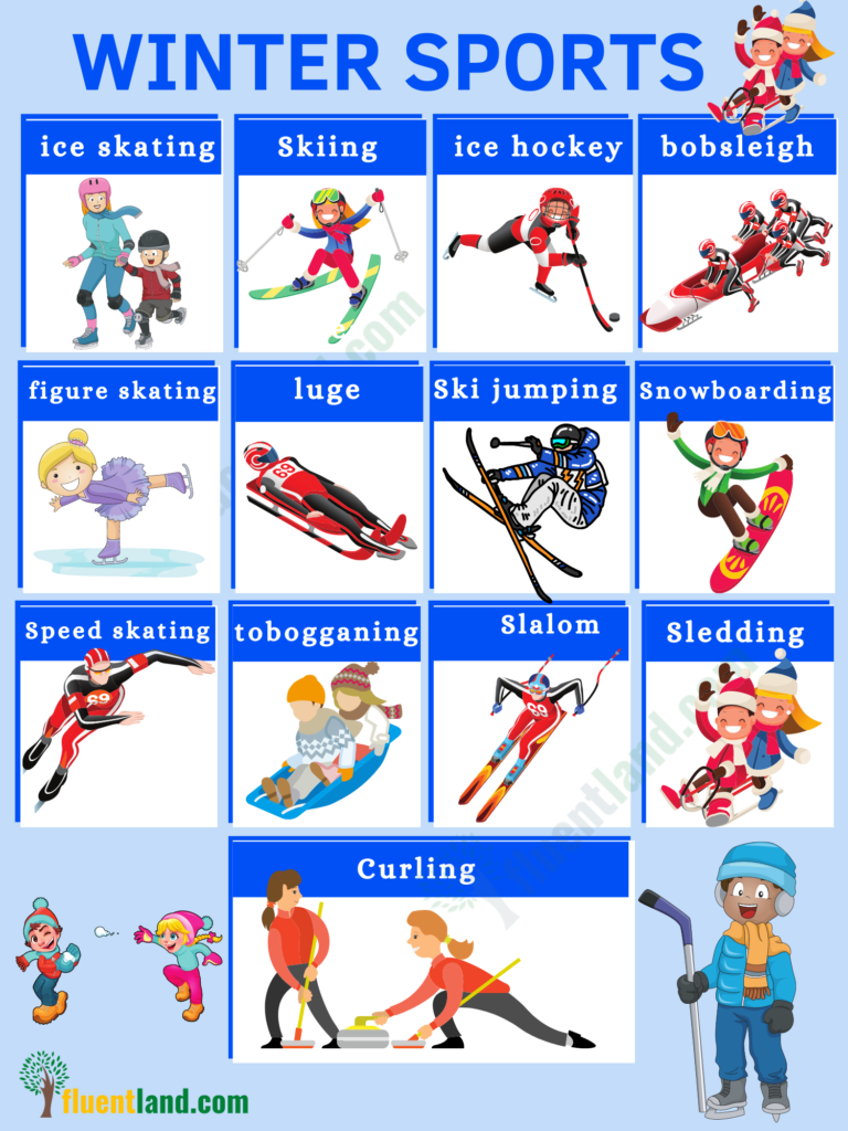 Winter Vocabulary   Useful List Of Words About Winter with pictures 6