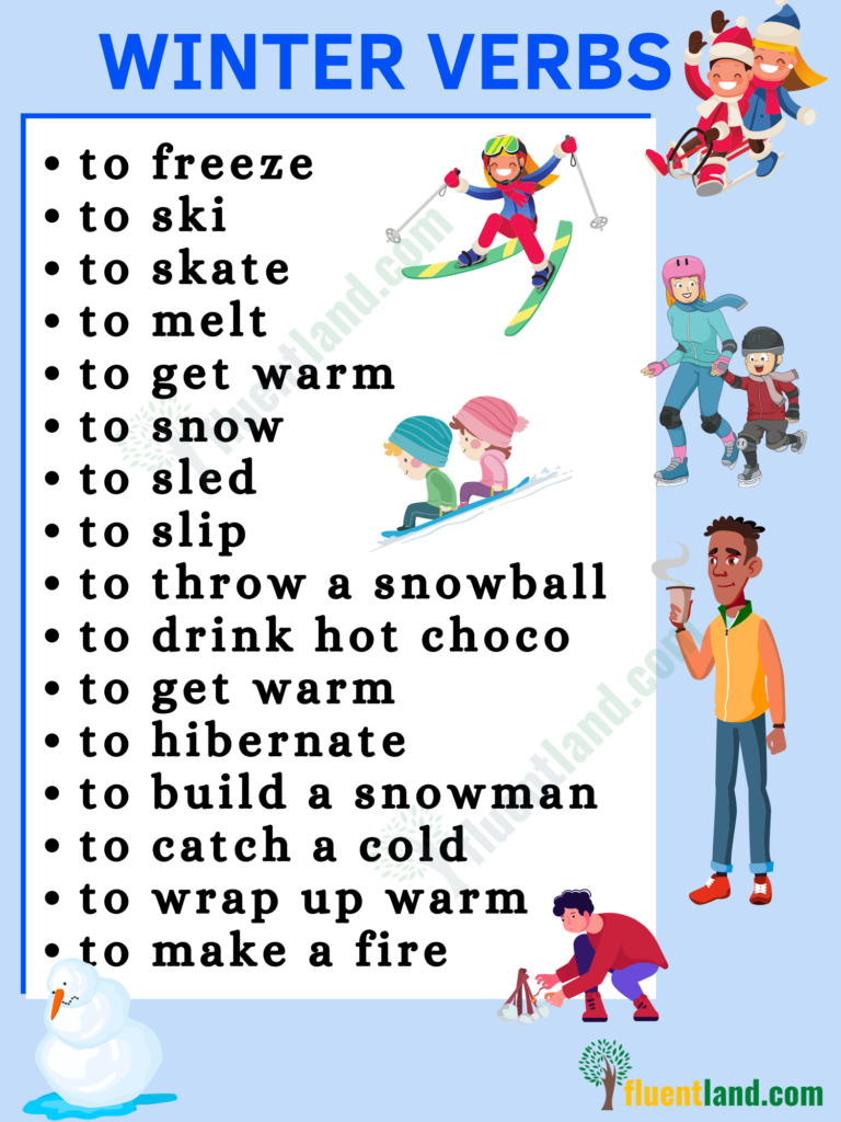 Winter Vocabulary   Useful List Of Words About Winter with pictures 7