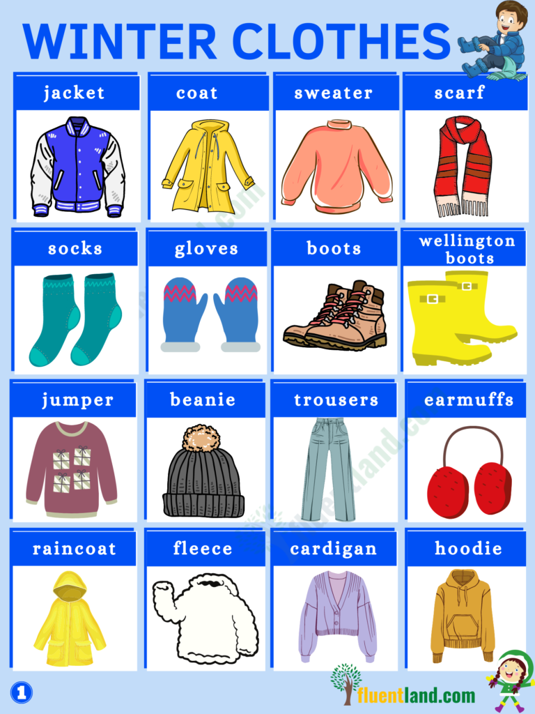 Winter Vocabulary   Useful List Of Words About Winter with pictures 4