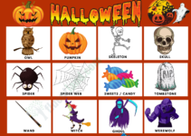 Halloween Vocabulary Word List 6