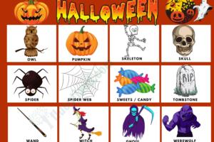 Halloween Vocabulary Word List 74