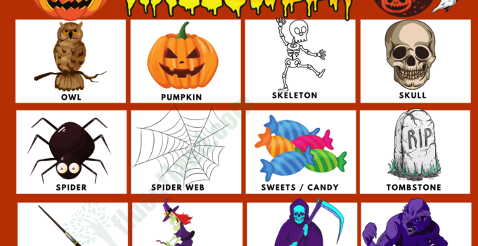 Halloween Vocabulary Word List 1