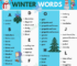 Winter Vocabulary | Useful List Of Words About Winter with pictures 58